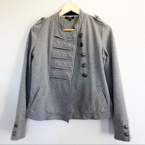 Express Gray Military Inspired Jacket Sz Small